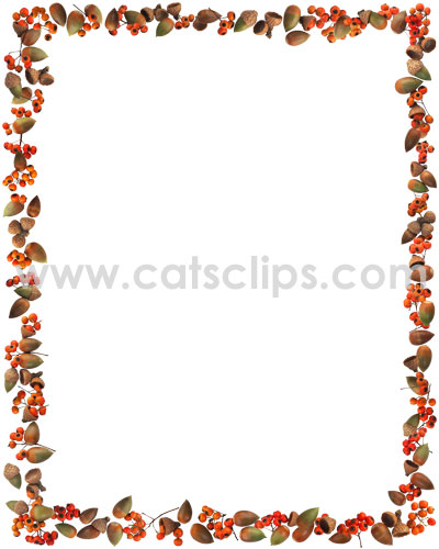 Acorns and Berries border from www.catsclips.com
