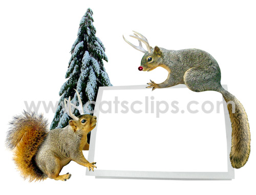 christmas squirrel card photo frame