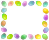 colored eggs border
