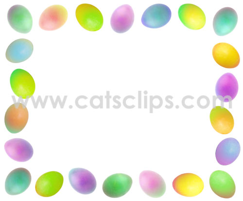 colored Easter eggs border