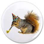 squirrel with party blower button