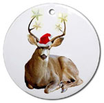 christmas stag ornament at cafepress