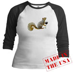 squirrel drinking wine jersey shirt from cafepress