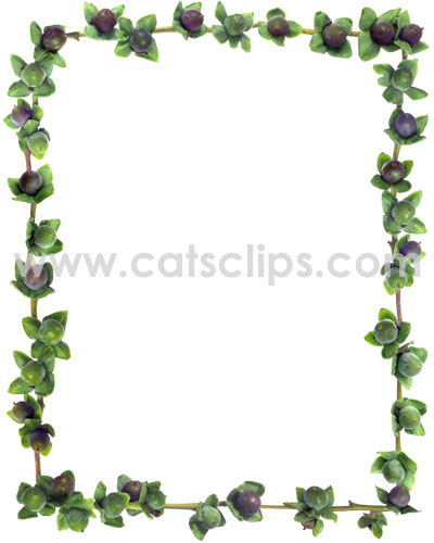 Lilac Persimmon border from www.catsclips.com