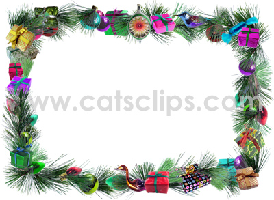 presents garland border