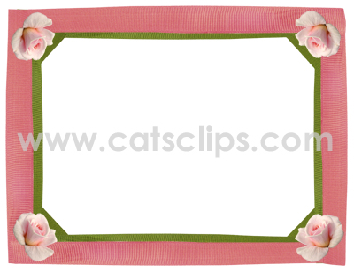 rose ribbon border