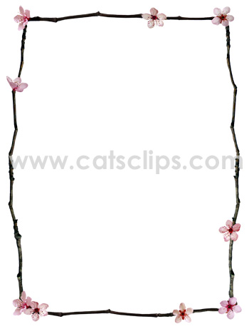 twig flowers border