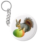 easter squirrel key chain at zazzle